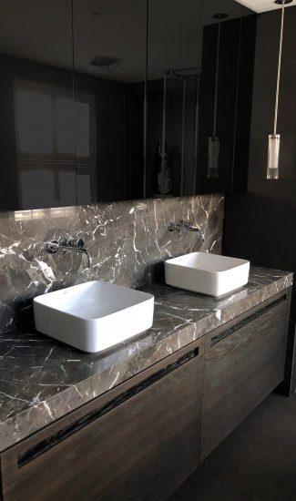 top bagno marmo