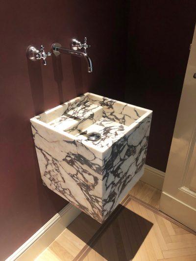 bagno marmo Calacatta viola